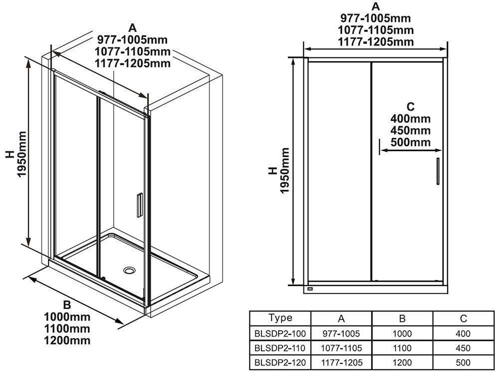 Душевая дверь Blix Slim BLSDP2