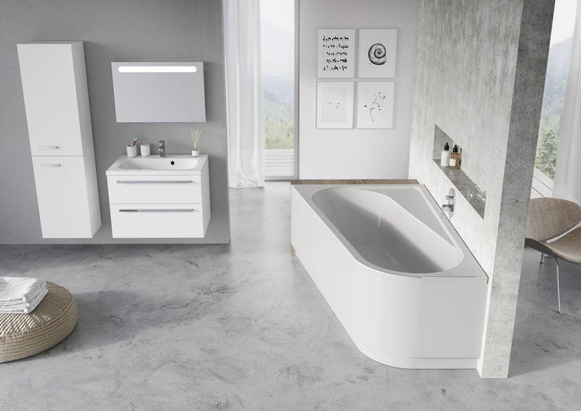Передняя панель CHROME 170x105 R белая НОВИНКА мебель для ванн runo