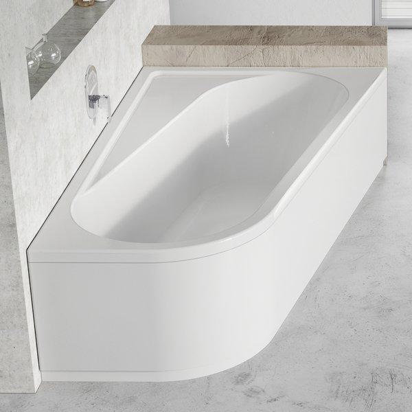 Передняя панель CHROME 170x105 R белая НОВИНКА душевая стойка со смесителем с тропическим душем купить