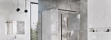 Душевые стенки Walk-In из безопасного стекла